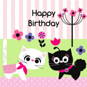 Happy Birthday Card - Two Cats
